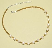 1850N.jpg FW Pearl and Gold Crystal Nklc